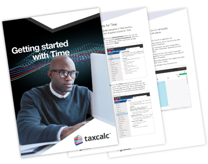 Getting Started with TaxCalc Time